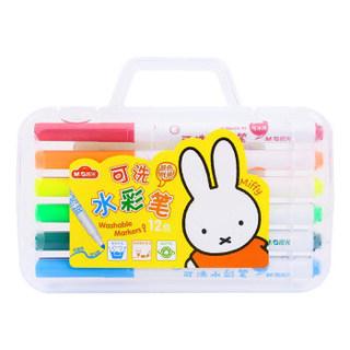 M&G 晨光 FCPN0227 米菲系列 锥头水彩笔 12色可水洗 *8件