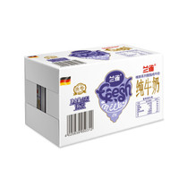 Lacheer 兰雀 脱脂纯牛奶 1L*12盒 *3件