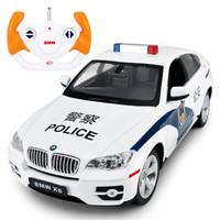 限地区 : Rastar 星辉 1:14 宝马X6 遥控警车模型 *2件