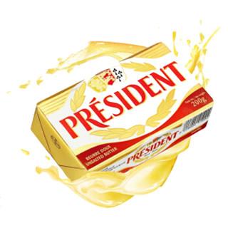 PRESIDENT 总统 发酵型动物淡味黄油块 200g *7件