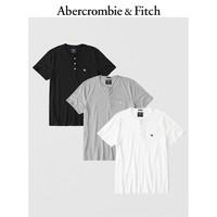 Abercrombie&Fitch男装 潮流3 件装标识款亨利式上衣 232808 AF