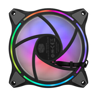 COOLERMASTER 酷冷至尊 MF120 Halo 机箱ARGB风扇12厘米台式主机散热CPU风扇叶
