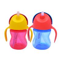 兩個飛利浦新安怡吸管杯寶寶水杯耐摔防漏兒童卡通學飲杯