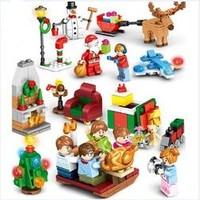 森宝积木 圣诞系列 601092 圣诞节场景
