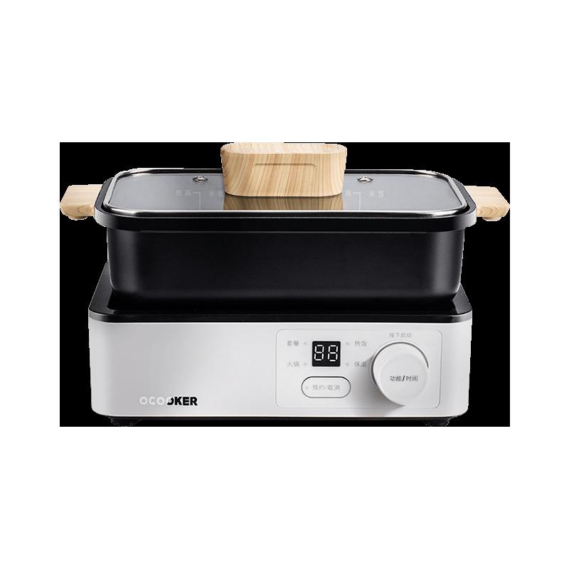 圈厨 T-A1-TC01 电热锅 白色 1.2L