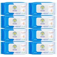 五羊(FIVERAMS) 五羊 婴儿护肤柔湿纸巾 宝宝湿纸巾 护肤柔80抽x8 *3件