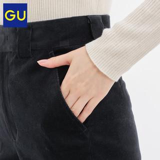 GU极优女装灯芯绒直筒长裤复古显瘦通勤休闲2019秋冬新款319303