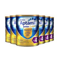 【包邮6罐装】Aptamil 爱他美 金装4段婴幼儿奶粉 900g
