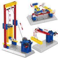 万格 小颗粒积木 动力原理工程机械3合1系列 1304 升降机