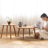 北欧风格家具全实木圆茶几桌椅组合小户型简约现代客厅圆桌
