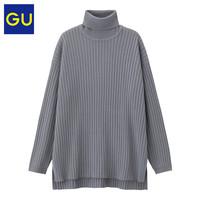 GU 极优 320421 女装高领针织衫