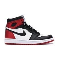 Jordan 1 Retro High Satin 红丝绸黑脚趾运动鞋