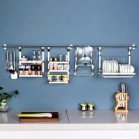 升级版自由组合食品级304不锈钢五金厨房置物架挂件(39元起)