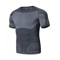 安踏健身衣男 春夏季新款健身房跑步运动紧身衣弹力T恤