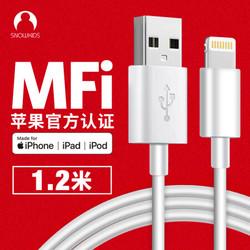 Snowkids 苹果数据线 USB-C苹果PD快充数据线iPhone11Pro/XsMax/XR手机Type-C to Lightning充电器线1米白 *4件