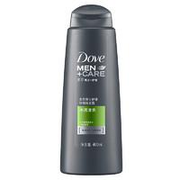 多芬洗发水 男士+护理 强韧洗发露 净透清爽400ml *5件