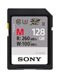 Sony 索尼 存储卡128GB,UHS-II SD,CL10,U3,R260MB / s,W100MB / s