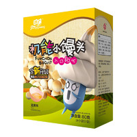 方广 宝宝零食 机能小馒头蛋黄味80g/盒装 入口即化 *2件