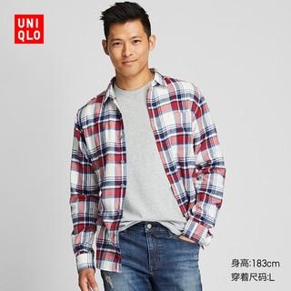 UNIQLO 优衣库 421197 法兰绒格子衬衫