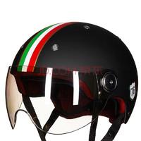 BEON复古摩托车头盔男女四季半盔覆式电动机车安全帽可爱冬季保暖可选配护耳