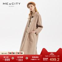 折|MECITY女装2019冬季新款设计感双面呢长袖大衣外套