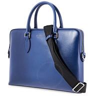 银联专享 : BURBERRY Briefcase London Leather Dark Blue 男士真皮公文包
