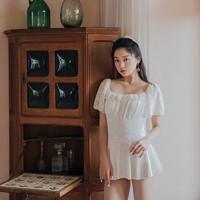 OMOM 法式少女连体裙式泳衣