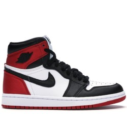 AIR JORDAN 1 Retro High Satin 红丝绸黑脚趾运动鞋