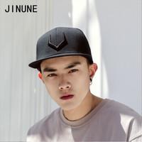 JINUNE SA1706035 大码秋冬平沿棒球帽