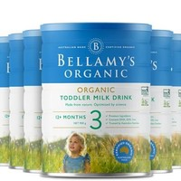 Bellamy's 贝拉米 新款有机婴幼儿配方奶粉 3段 900克*6罐