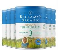 Bellamy's(贝拉米) 有机幼儿配方奶粉 3段(12月以上) 900g/罐 6罐箱装