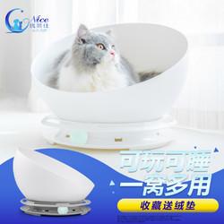 猫窝夏季凉透气不粘毛猫床猫咪屋英短蓝猫宠物幼猫猫锅猫玩具用品