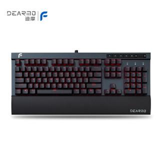 迪摩(DEARMO)F5机械键盘有线键盘 深空灰 樱桃黑轴 自营