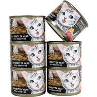 猫乐适猫罐头 主食罐 白肉成猫咪幼猫罐零食湿粮 海陆盛宴185g/6个装 *2件