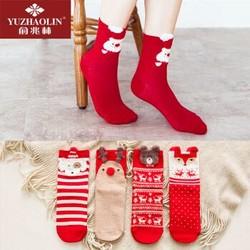 俞兆林卡通立体新年圣诞袜4双装 *6件