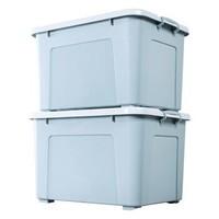 百草园 塑料收纳箱 130L 2个装 蓝灰色