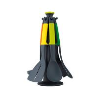 英国Joseph Joseph 免粘系列旋转木马锅铲勺6件套 彩虹色锅铲套装 其他厨房小工具