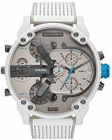 Diesel 男士指针式石英手表,皮革表带, DZ7419