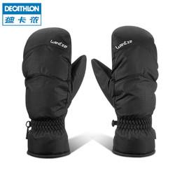 迪卡侬手套冬女骑行男连指成人户外滑雪保暖滑雪手套WEDZE1