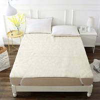 当当优品羊羔毛床垫 纯羊毛全棉防潮床垫 单人床褥120*200cm
