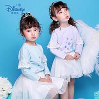 迪士尼冰雪奇缘童装女童秋装2018秋冬新品艾莎印花卫衣 *3件