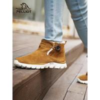伯希和雪地靴男女加绒棉鞋