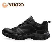 Nikko防水登山鞋男防水防滑徒步鞋女日高户外运动鞋男爬山鞋透气 黑色 39 *3件