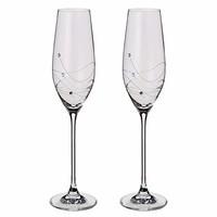 Dartington 水晶 - Glitz 香槟*瓶装玻璃,2 件装 - 礼品盒