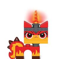 LEGO 超级英雄女孩蝙蝠侠 LED夜灯手电筒玩具 愤怒独角猫发光人偶TO34
