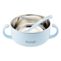 Richell 利其尔 儿童辅食碗 蓝碗 620ml *4件