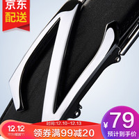 高尔夫GOLF 牛皮男士皮带自动扣耐磨腰带礼盒裤带P489633黑色