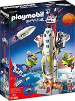 PLAYMOBIL 摩比世界 9488 玩具 火星火箭带发射台