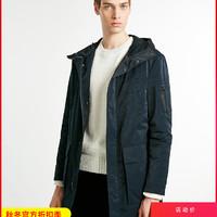 JackJones杰克琼斯冬季男士两穿保暖潮流工装中长款防风棉服外套