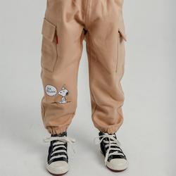 SNOOPY 史努比 男童加厚工装长裤